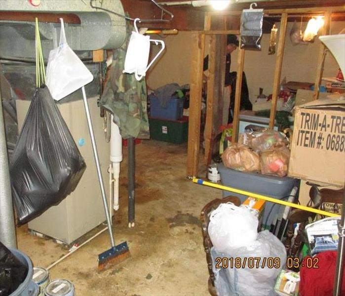 Flooded Basement Due to Storms